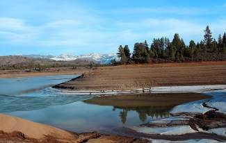 Boca Reservoir, located in the Tahoe National Forest northeast of Truckee, shows evidence of the drought, as seen here on Feb. 14, 2014.