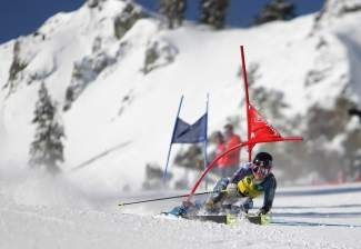 Megan McJames competes in the 2013 U.S. Alpine Championships at Squaw Valley. The super G races for the 2014 event were canceled.