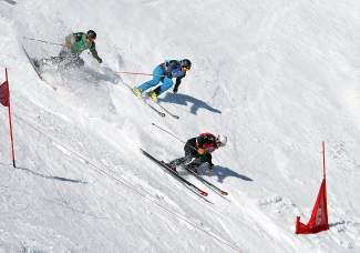 Skiers compete in a past Rahlves' Banzai Tour at Alpine Meadows. This year's Banzai Tour schedule was altered slightly, now beginning Feb. 15-16 at Squaw Valley instead of Kirkwood.