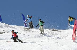 Skiers compete in the Squaw Valley stop of the Rahlves' Banzai Tour in 2012. The tour moves to Squaw Valley this weekend.