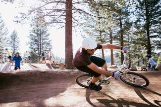 Truckee resident Forrest Huisman rides at the Truckee Bike Park last summer. A fundraiser for the next phase of the park will take place Thursday at Bar of America.