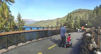 "With 16 scenic vista points planned, the Incline-to-Sand Harbor bike path aims to be ""one of the most spectacular bike paths in all the United States,"" Tim Cashman, president of the Tahoe Fund board of directors, said previously."