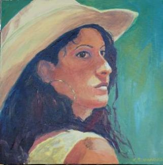 Rodeo Day is a portrait by Charlene Simmons, who recently joined the creative crew at Artisan's Market Place in Truckee.