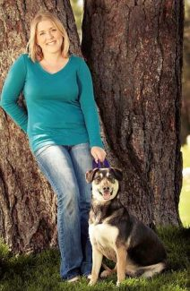 Emily Watt, recent hire at the Humane Society of Truckee-Tahoe, loves all animals, especially her adopted dog Ruby.