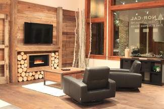 The new Nor-Cal Floor Design, Inc. flooring showroom at The Rock in Truckee features eco-friendly and stunningly beautiful wide-plank wood flooring.
