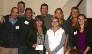 The following organizations contributed more than $10,000 to the Foundation last year through participation in various fundraising programs. From left: Jeff Brown, Tahoe Mountain Club; Ed McGargill, Coyote Moon; Peter Avedschmidt, Sugar Bowl; Jennifer Rock, Northstar; Mike Livak, Squaw Valley/Alpine Meadows; Carla Yeager, Martis Camp; Jerusha Hall, Northstar; Brinn Talbot, Tahoe Donner; Heather Whitney, Martis Camp. Also recognized in this category, Resort at Squaw Creek and Tahoe City Golf Course.