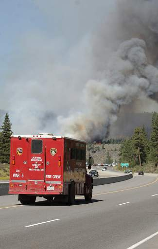 Calfire was among several regional fire and emergency agencies to respond to Monday's 84-acre Boca Fire.