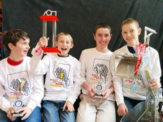 From left, Parker Fontecchio, Paul Larson, Conor Drewes and Colin Drewes.