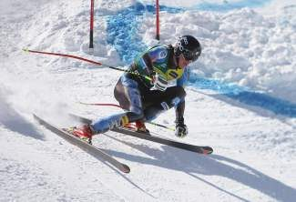 Bryce Bennett, shown during last year's U.S. Alpine Championships at his home mountain of Squaw Valley, won the national downhill title at Copper Mountain, Colo., on Tuesday.