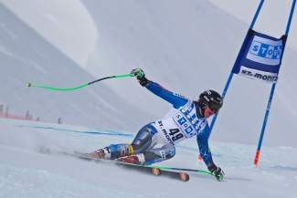 Stacey Cook, shown in this 2012 file photo, finished fifth in a World Cup downhill in Cortina, Italy, on Friday.