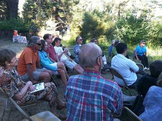 Kings BEach library presented an Evening by the Creek, with Carol Van Etten (pictured, left) and Eddy Ancinas.