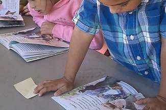 Students at Sierra Village Apartments in Truckee participated in last summer's neighborhood reading program. This year's Sierra Village Apartment program runs on Wednesdays and Thursdays, 9-11 a.m.