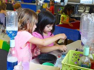 Students participate in TTUSD's K-Camp at Kings Beach Elementary, a four-week school readiness program to prepare incoming kindergarten students.