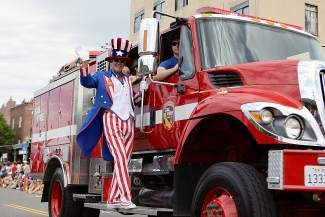 Uncle Sam caught a ride with Calfire during the Truckee July 4 parade.