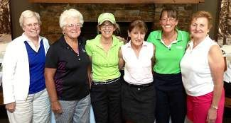 From left to right: Lydia Stang, 2013 Club Champion, Fran Macomber, Bettye Carmichael, Carol Louderback, Leslie Williams and Lou Ashcraft.