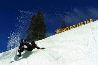Northstar-sponsored snowboarder and Olympic gold medalist Shaun White rides Northstar's superpipe last season. The Sprint U.S. Grand Prix Olympic qualifier stop that was originally to be held at Northstar will instead be held at Breckenridge in Colorado due to snow conditions.