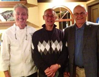 From left: Douglas Dale of North Lake Tahoe Aikido Club and Wolfdale's Restaurant, Inagaki Sensei from Iwama Japan and Bill Witt Shihan, president of the Association.