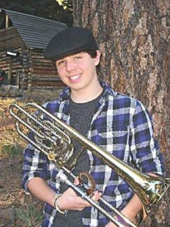 John Humphries is one of several talented North Tahoe High School musicians who will participate in honor bands throughout California.