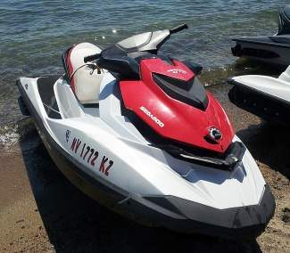 Dawn Finn was operating this personal watercraft when she was struck by another PWC operated by her daughter.