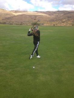 Incline junior Devi Meyers led the Highlanders in a Division III tournament at Eagle Valley last Thursday.