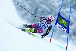 Tim Jitloff of Trucke, shown in a World Cup giant slalom last season, matched his career-best result in the GS with a fifth-place finish in the Alta Badia giant slalom Sunday.