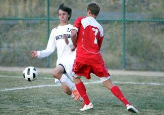 Senior Wildon DesLauriers, pictured against Whittell last season, scored one of the Lakers' three goals in a 3-0 win over visiting Colfax on Tuesday.