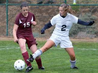 North Tahoe senior Zoe Anderson competes against West Wendover last Saturday. The Laker girls lost 3-0 to Whittell on Tuesday.