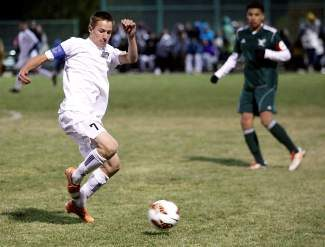North Tahoe senior Wildon DesLauriers scored a goal in the Lakers' 3-3 tie against Incline on Wednesday.