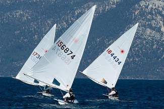 Sailors were greetetd with light winds for the second consecutive week in Monday Nighit Laser Racing action.