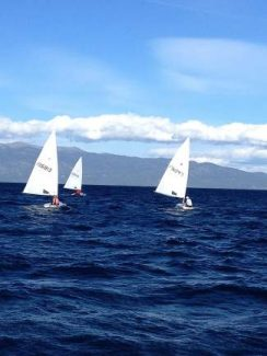 After a series of rainouts, the Lake Tahoe Laser Fleet held four races off of Tahoe's North Shore this past Monday.