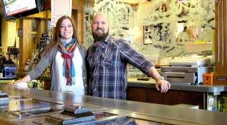 """Two week before taking over Billy's Bar, Amanda and Steve Thomason found out they were expecting their second child. """"The next two years will be babies and the bar — we will be busy,"""" Amanda said with a laugh."""