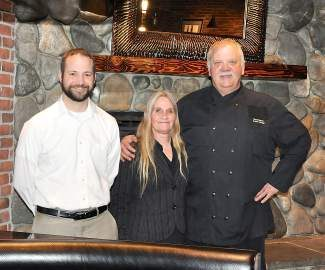From left, Tahoe Biltmore Director of Operations Tyler Gaffaney, Marketing Manager Kristi Freeto and Chef Bryan Peterson helped revamp Bilty's Brew and Q inside and out to offer more options to locals.