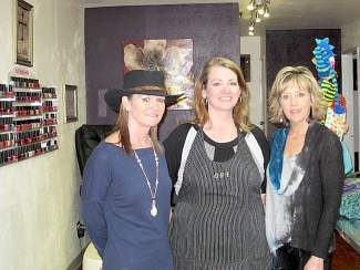 "Coco Mac, Cynette Eriksen and Karen Stevens pose inside Rapture Salon. Each woman specializes in a different form of pampering, styling and ""transformation."""