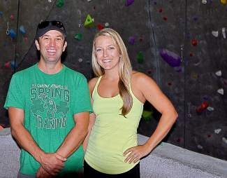 Owner Jason Burd and General Manager Heather Palmer are both avid climbers. High Altitude Fitness' climbing wall is the largest indoor climbing wall in Nevada.