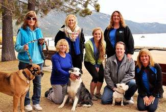 The sitters at Incline Pet Care consider themselves animal lovers, and they all agree they couldn't imagine life without a pet. From left, Sharon Langdon and her dog Carson; Leni Grant with her dog Charlie; along with Brittany Vidal, Rebecca Taylor, Candace Healy, Bill Healy and Daisy and Debi Cuttler.