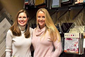 Kristen Fencl of Decorating Den Interiors, left, and Cristalyn of Sowing Basil will host a grand opening to announce their partnership this Saturday from 3 to 6 p.m.