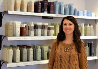 Sierra Ward, owner of Sierra Bella Luxury Salon, decided to become an Aveda Family Salon this fall. Offering Aveda products and services will help her business grow, she said.