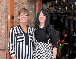 Mother-daughter team Brenda and Rhiannon Hosea often match their shop, donning their favorite colors of black and white.
