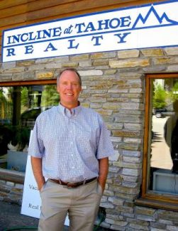 Blane Johnson stands outside what will soon be known as Sun Bear Realty in Incline Village, off Tahoe Boulevard.