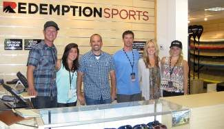 Redemption Sports believes in hiring outdoor enthusiasts to ensure having a knowledgeable staff that also likes to play. From left, KC Myron, Jessica Gibson, Kurt Okraski, Tim Brown, Nicole Olson and Jessica McCulloch.
