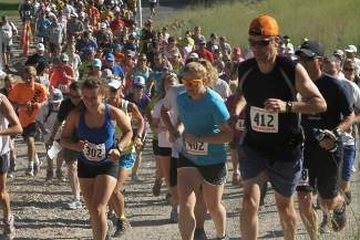 Runners start the 3.6-mile run run to High Camp during a past Squaw Mountain Run. This year's run is scheduled for Saturday, Aug. 2.