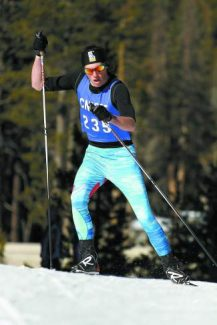 North Tahoe senior Shane Christian powers his way to a first-place finish in the Auburn Ski Club Foothill Freestyle on Friday.