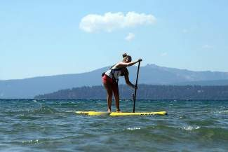 Sixteen-year-old Fiona Wylde of Hood River, Ore., took third in the O'Neill Fall Classic on Sunday to secure the O'Neill SUP Series title.