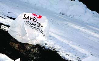 Single-use plastic bags, like ones that used to be sold in Truckee at Safeway, are not accepted in curbside recycling because they can get stuck in the sorting equipment.
