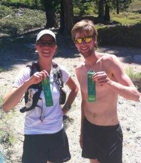 JP Donovan of Incline Village, right, and Kari Long of Carson City won the 2014 Ponderosa Ridge Run. This year's run is scheduled for Saturday.