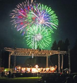 After an hour of playing under the stars, the Reno Philharmonic Orchestra played in tandem with the dazzling fireworks display during the 2008 Red, White and Tahoe Blue festival. The orchestra is returning to Tahoe this summer.