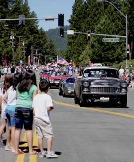 Crowds lined Tahoe Boulevard this past July as part of the annual Red, White and Tahoe Blue community parade.