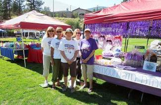 the 2012 Mountain Niner's team, from left: Sue McLaughlin, Mary Edwards, Julie Marigold, Faith David and Mary Hubbard. Not pictured: Deb Iannucci.