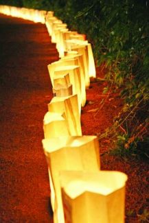 Each year, hundreds of luminaria bags are lit during regional Relay for Life events to honor lives lost in the fight against cancer.