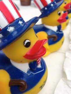 The sale of Rotary racing ducks each year helps support local charities and programs for local youth.
